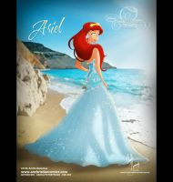 Ariel in Alfred Angelo Dress by AN-ChristianComics
