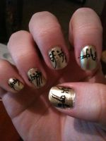 LOTR The One Ring Nail Art - Part 2 by ineedacat9