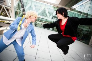 Games Begin - HS! Shizuo and Izaya Cosplay by cloudsofsand