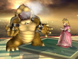 Bowser and Peach by LilLaura6789