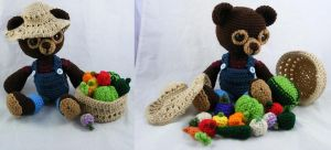 Amigurumi Farmer Bear by CraftedKansas
