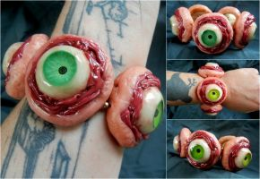 Stretchy eyeball bracelet by dogzillalives