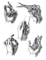 Hands Drawings by Jermmgirl