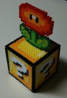 Perler Fire Flower Block by Dlugo1975