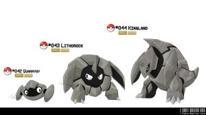 042, 043, 044: Rock Fakemon by LeafyHeart
