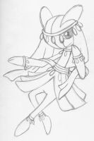 Sketchy Desiree the Kirlia by Whimsy-Floof