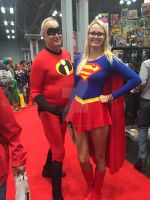 NYCC :2015- Mr. Incredible and Supergirl by ShawnAtkinson