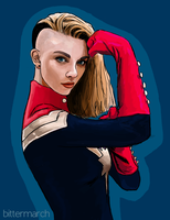 Captain Marvel (Carol Danvers) by bittermarch
