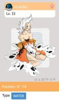 Gijinka Pokemon 119 Seaking by saurodinus