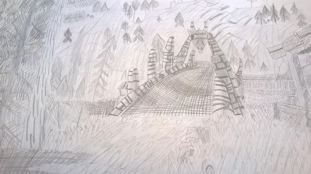 Dragon Bridge from Skyrim by StormCoyote16