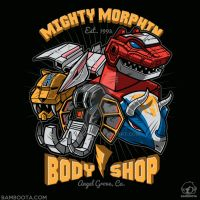 Mighty Morphin Body Shop by Bamboota