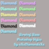 Glow Glass Photoshop Styles by xXxDiamondxXx