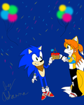 Happy Be-lated Birthday Sonic by PrincessTales