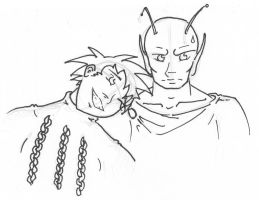 Goku and Piccolo by Talimee