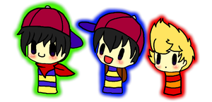 Earthbound Chibis by AskPKLucas