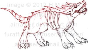 Hell Hound Sketch 2012 by AirRaiser