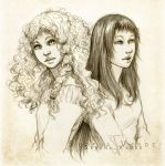 Mari and Milena by SerenaVerdeArt