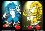 Sonic and Super Sonic 2007 by o-kemono
