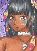 ACEO #067 - N'heira - Mysterious Shaman by Elythe