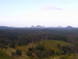 Glass House Mountains by Lupus-deus-est