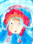Ponyo painting by Fran48