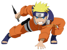 Naruto Uzumaki pts - Lineart colored by DennisStelly