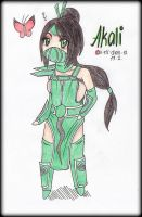 AKALI - The Fist of Shadow Chibi by ii-ris-chan