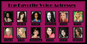 Top Favorite Voice Actresses by PurfectPrincessGirl