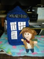 The Doctor and his TARDIS by AngelAndChangeling