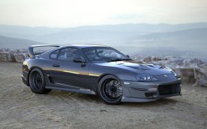 Toyota Supra Scenic Shot by Ajaxial