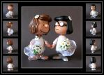 peanuts wedding cake topper  -  commission by nightwing1975