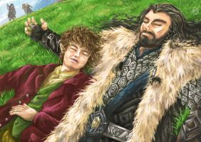 The Hobbit - Over Hill by aomarine