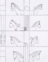 Hetalia Horses (Uncolored) by blackstormwarrior