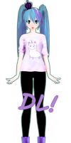 Simple Pastel Goth Miku DL! by DIBUJOSLOVE
