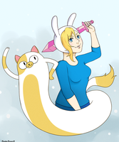 Fionna and Cake by MonsterPrincess5