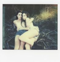 Brittany and Chelsea Polaroid 5 by Queen-Kitty