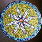 flower table mosaic by SamanthaJordaan