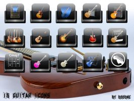 15 Guitar Icons by 0dd0ne