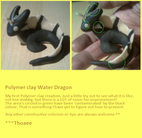 Polymer Clay Water Dragon by Thoaee