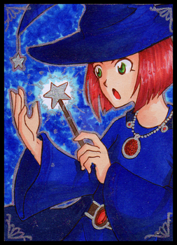 ACEO - Blue Witch by Tulpen-Teufel