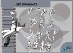 Life Drawings by PCHILL
