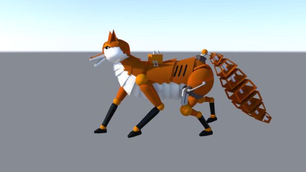 Robot Fox 2 by dragongirl117