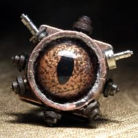 Steampunk Eye Tie Tack 2 by CatherinetteRings