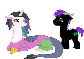 CE: Nightshade and Black Cheshire by srbarker