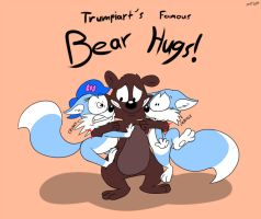 Bear Hugs! with Trumpiart by RupertBlueFox