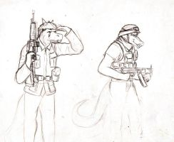 RvS sketch:Reptillian soldiers by SteinWill