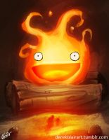 Today's Warm Up: Calcifer by derekblairart