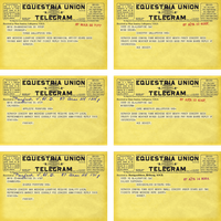 Equestria Union Telegrams by Catspaw-DTP-Services