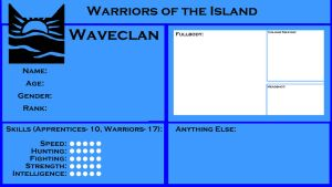 Waveclan Application Form by Russetpelt-07
