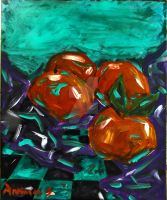 Still life Oranges by vanouka